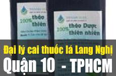 Đại lý bán thuốc cai thuốc lá lang Nghị ở quận 10 – TPHCM